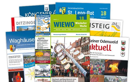 Amts- und private Mitteilungsblätter