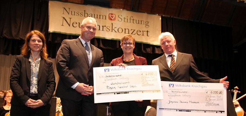 Spendenübergabe der Nussbaum Stiftung